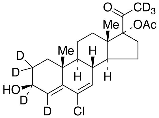 Chlormadinol acetate-d<sub>7</sub>
