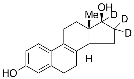 Δ8,9-Dehydro-17β-estradiol-16,16,17-d<sub>3</sub> (major)
