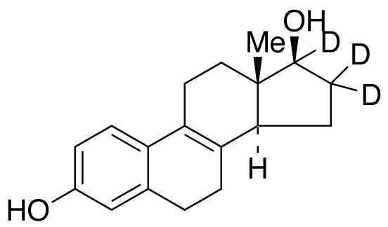 Δ8,9-Dehydro-17β-estradiol-16,16,17-d<sub>3</sub> (major)