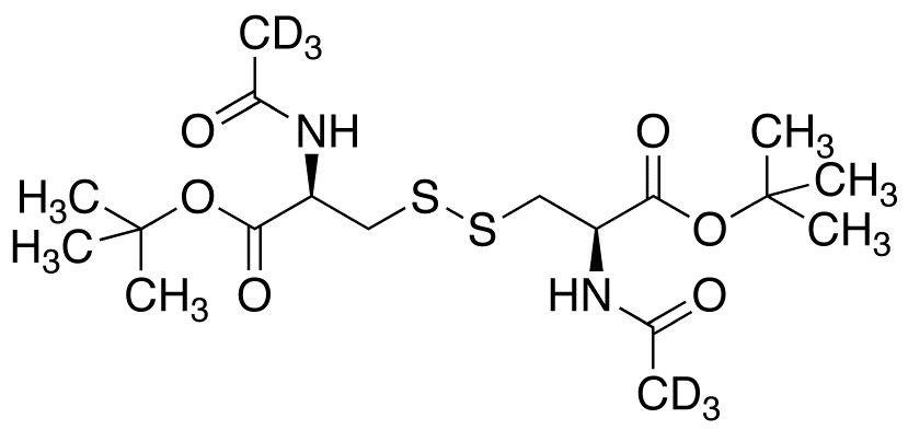 N,N'-Diacetyl-L-cystine Bis(tert-Butyl) Diester-d<sub>6</sub>