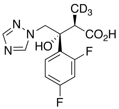 (αR,βR)-β-(2,4-Difluorophenyl)-β-hydroxy-α-methyl-1H-1,2,4-triazole-1-butanoic Acid-d<sub>3</sub>