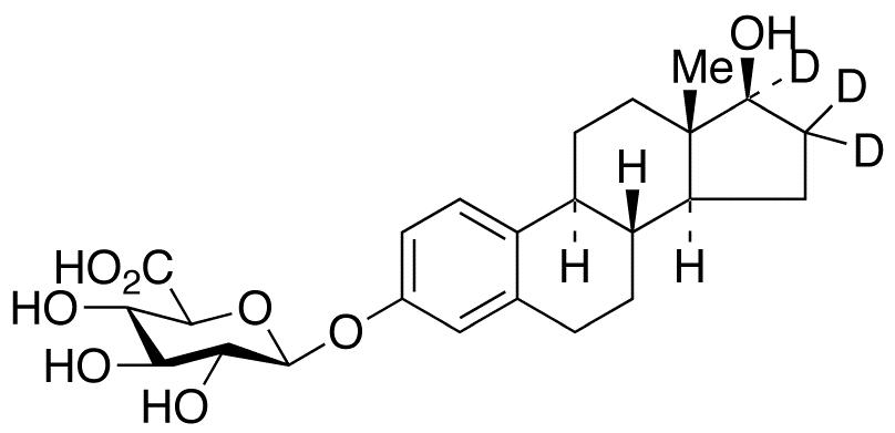 Estradiol-16,16,17-d<sub>3</sub> 3-Glucuronide
