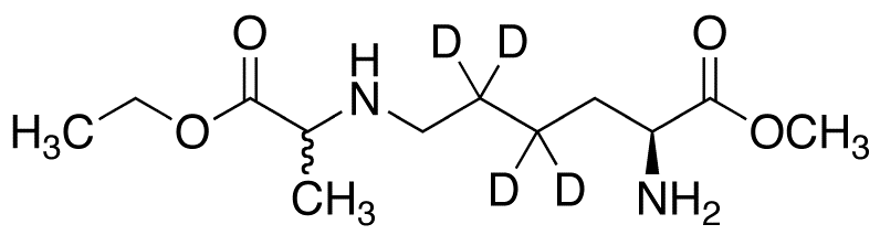 N&#949;-(Ethoxycarbonylethyl)-L-lysine-d<sub>4</sub> Methyl Ester (Mixture of Diastereomers)