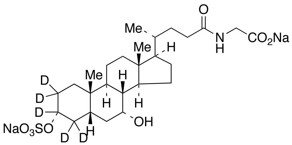 Glycochenodeoxycholic Acid-d<sub>5</sub> 3-Sulfate Disodium Salt