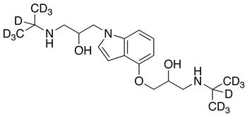 N-(3-Isopropylamino-2-hydroxypropyl) Pindolol-d<sub>14</sub>