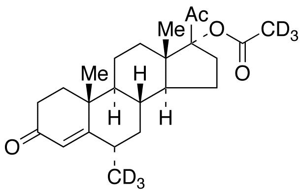 Medroxy Progesterone-d<sub>6</sub> 17-Acetate