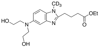 [1-Methyl-5-bis(2'-hydroxyethyl)aminobenzimidazolyl-2]butanoic Acid Ethyl Ester-d<sub>3</sub>