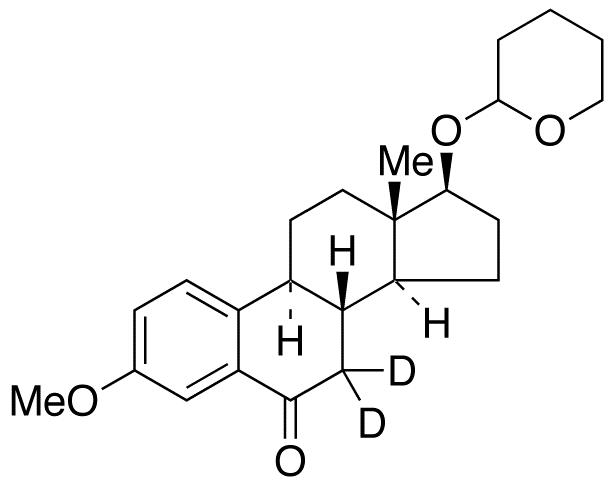 3-O-Methyl 6-Keto 17β-Estradiol-d<sub>2</sub> 17-O-Tetrahydropyran