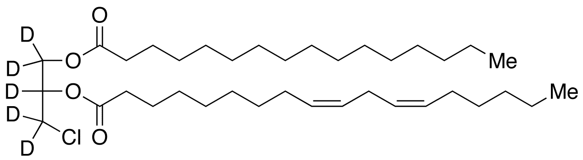 rac-1-Palmitoyl-2-linoleoyl-3-chloropropanediol-d<sub>5</sub>