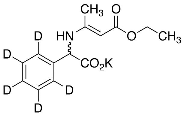 2-[N-(D,L-Phenylglycine-d<sub>5</sub>)]crotonic Acid Ethyl Ester Potassium Salt