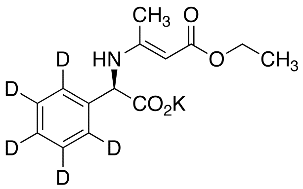2-[N-(D-Phenylglycine-d<sub>5</sub>)]crotonic Acid Ethyl Ester Potassium Salt