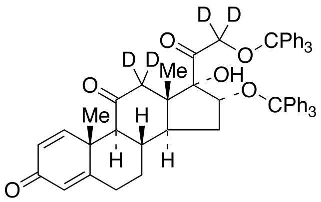 16,21-O-Trityl-17-hydroxypregna-1,4-diene-3,11,20-trione-d<sub>4</sub>
