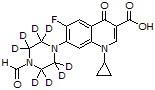 N-Formylpiperazinyl ciprofloxacin-d<sub>8</sub>