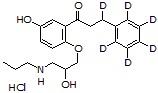 5-Hydroxypropafenone-d<sub>6</sub> HCl