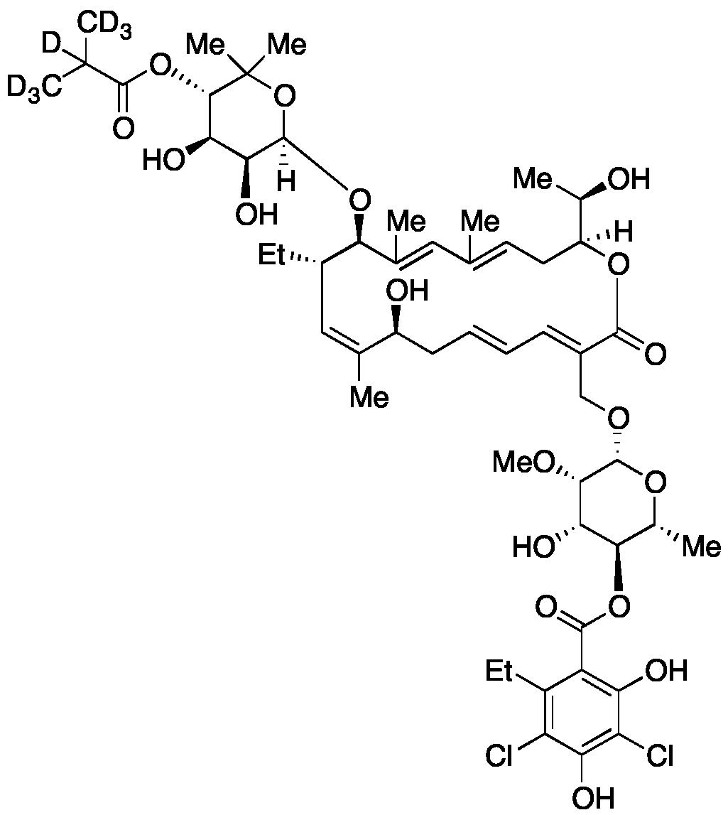 Fidaxomicin-d<sub>7</sub>