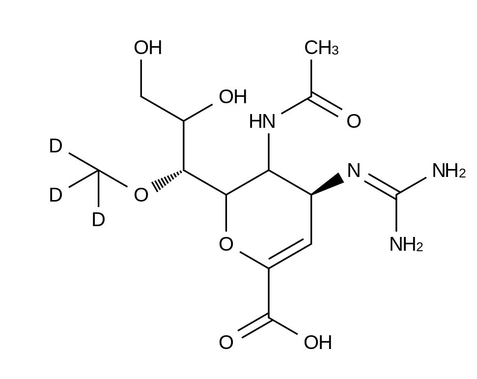 Laninamivir-d<sub>3</sub>