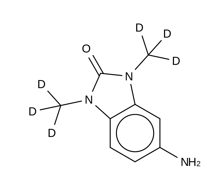 5-Amino-1,3-dimethyl-2-benzimidazolinone-d<sub>6</sub> HCl