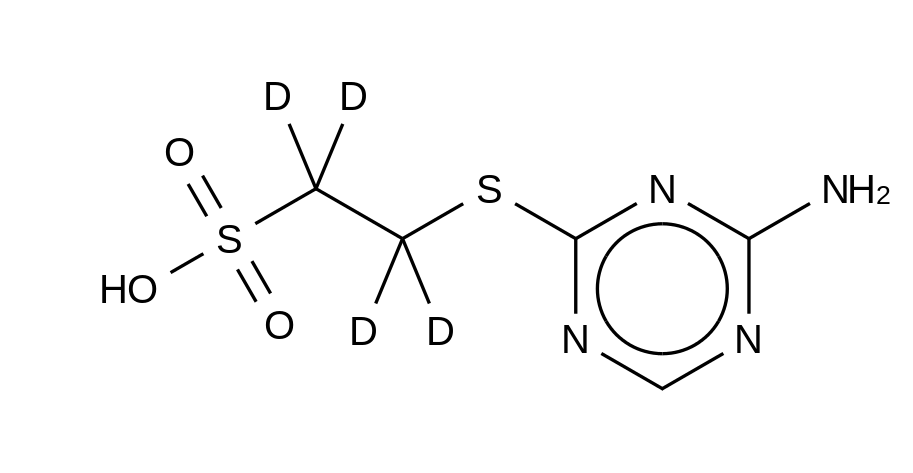 2-(4-Amino-1,3,5-triazin-2-yl)sulfanylethanesulfonic Acid-d<sub>4</sub>
