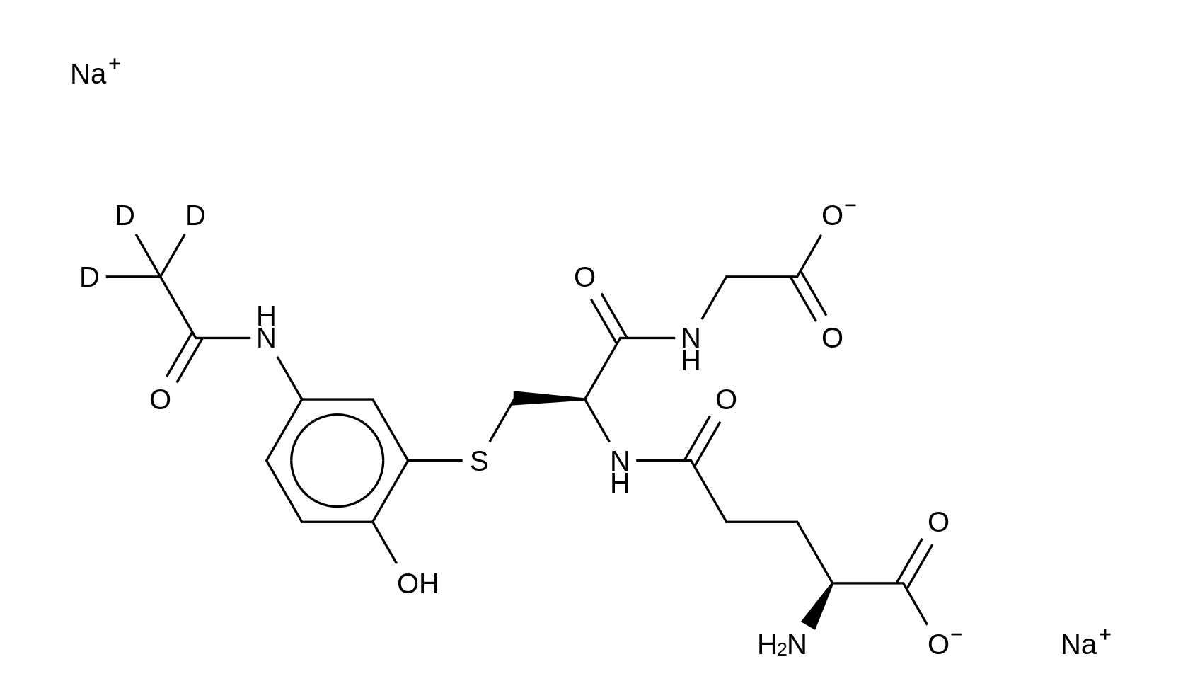 Acetaminophen glutathione-d<sub>3</sub> disodium salt