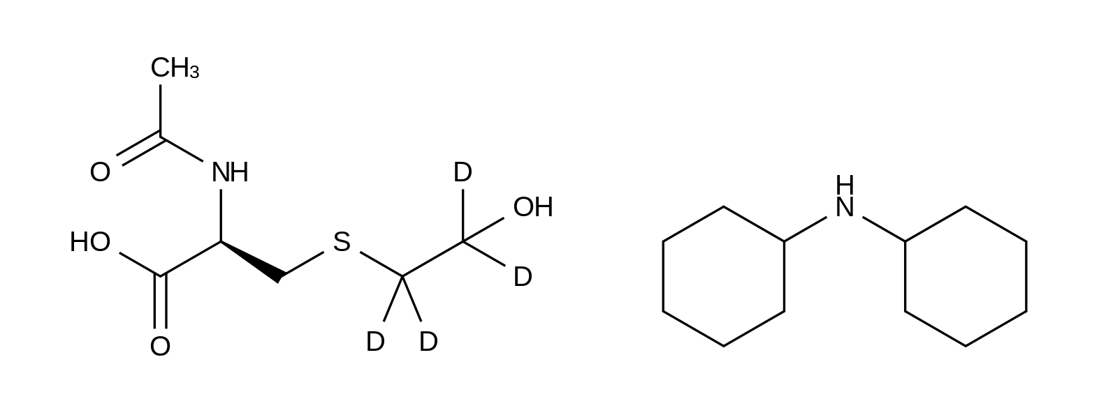 N-Acetyl-S-(2-hydroxyethyl-d<sub>4</sub>)-L-cysteine Dicyclohexylamine Salt