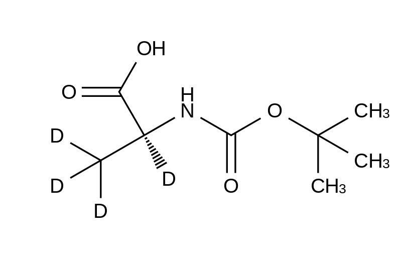 N-tert-Boc-L-alanine-d<sub>4</sub>