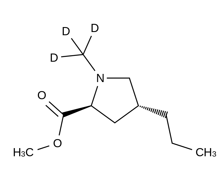 (4R)-1-Methyl-4-propyl-L-proline-d<sub>3</sub> Methyl Ester