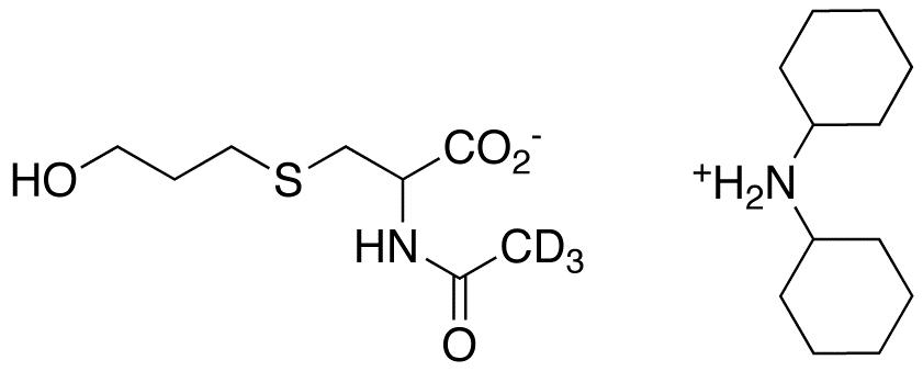 N-Acetyl-d<sub>3</sub>-S-(3-hydroxypropyl)cysteine Dicyclohexylammonium Salt