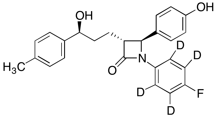 4''-Defluoro-4''-methyl ezetimibe-d<sub>4</sub>
