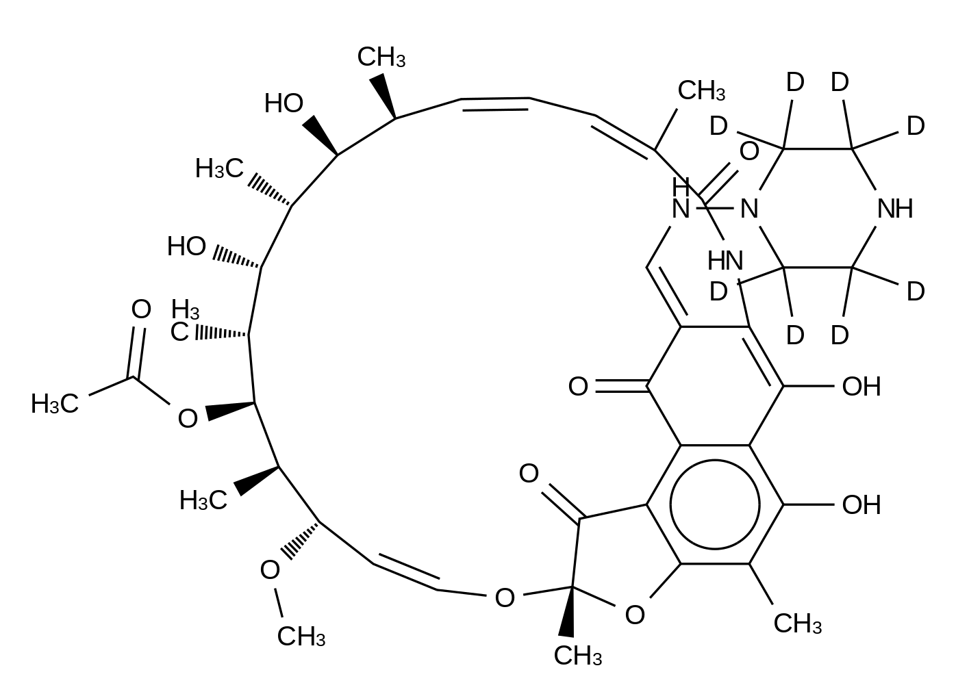N-Demethyl Rifampin-d<sub>8</sub>