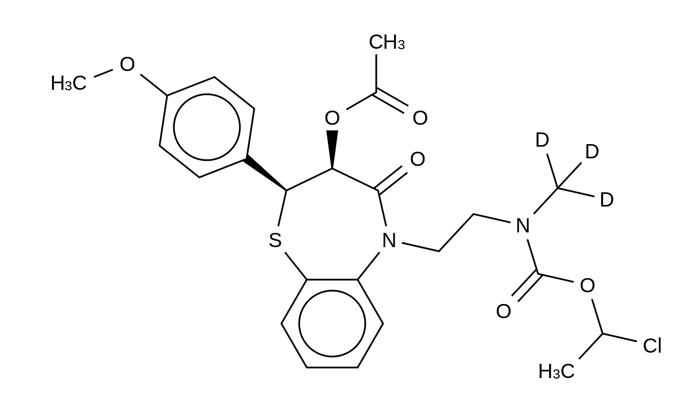 (2S,3S)-[2-[3-(Acetoxy)-3,4-dihydro-2-(4-methoxyphenyl)-4-oxo-1,5-benzothiazepin-5(2H)-yl]ethyl]methyl-d<sub>3</sub>-carbamic Acid 1-Chloroethyl Ester