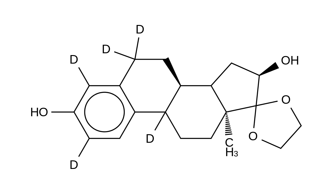 17,17-Ethylenedioxy-1,3,5(10)-estratriene-3,16α-diol-d<sub>5</sub>