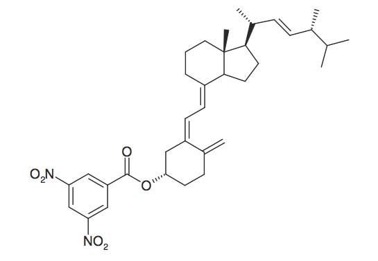 Vitamin D<sub>2</sub>-3&#146;,5&#146;-dinitrobenzoate