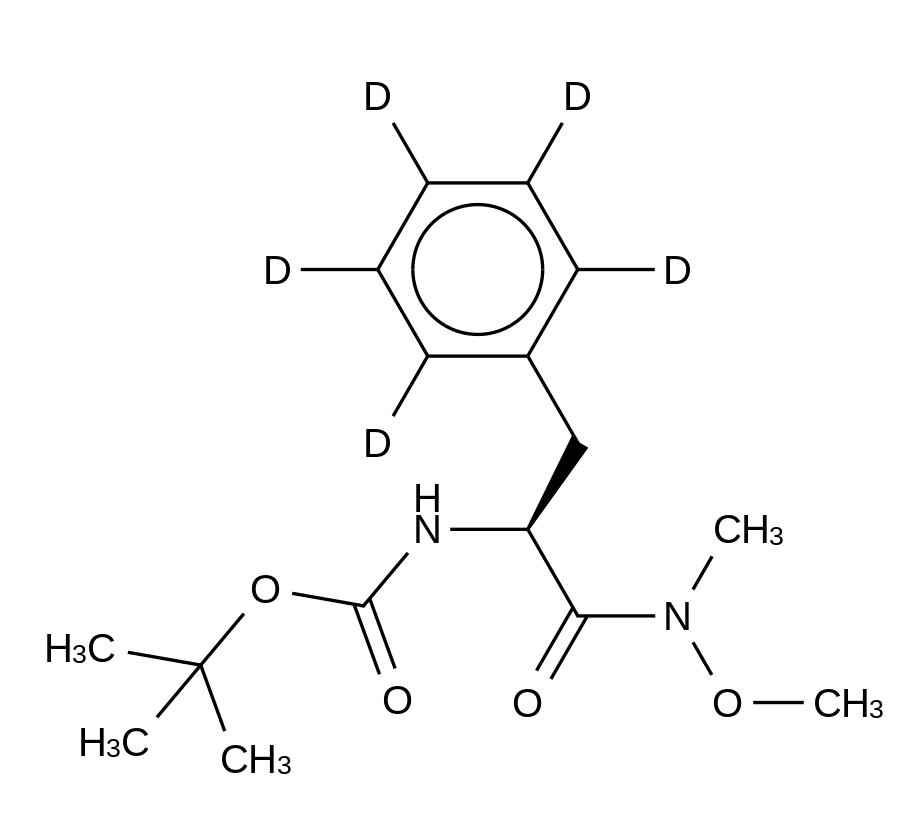 N-Boc-N-methoxy-N-methyl-L-phenyl-d<sub>5</sub>-alaninamide