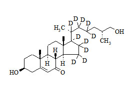 27-Hydroxy-7-keto cholesterol-d<sub>10</sub>