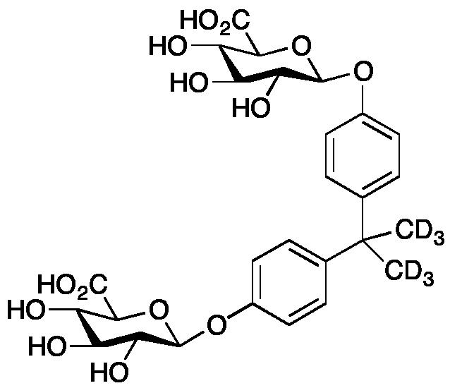 Bisphenol A (Dimethyl-d<sub>3</sub>) Bis-( β-D-glucuronide)