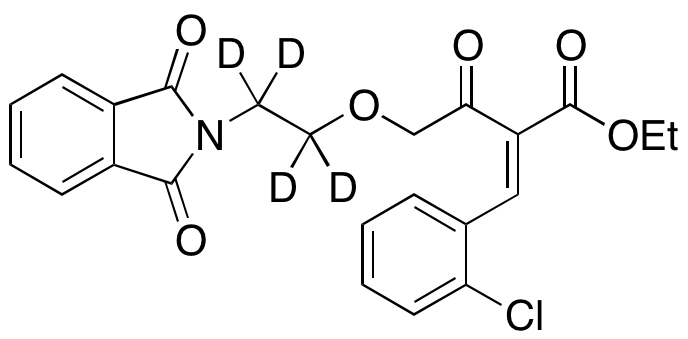 (E)-2-[(2-Chlorophenyl)methylene]-4-[2-(1,3-dihydro-1,3-dioxo-2H-isoindol-2-yl)ethoxy]-3-oxobutanoic Acid Ethyl Ester-d<sub>4</sub>