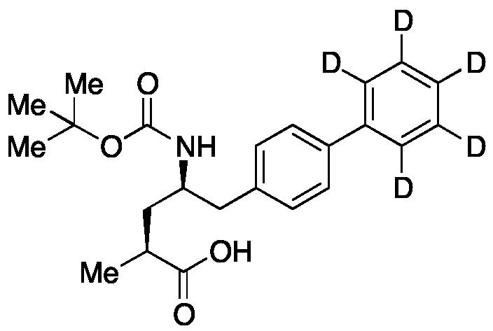(αS,γR)-γ-[[(1,1-Dimethylethoxy)carbonyl]amino]-α-methyl-[1,1'-biphenyl]-4-pentanoic acid-d<sub>5</sub>