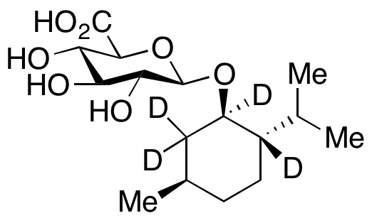 (1R,2S,5R)-(-)-Menthol  β-D-Glucuronide-d<sub>4</sub>