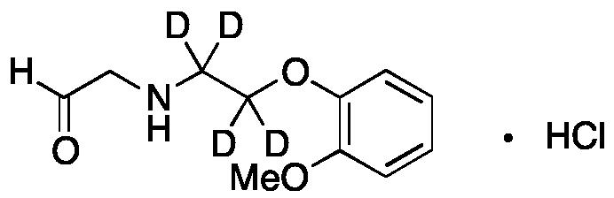 2-((2-(2-Methoxyphenoxy)ethyl)amino)acetaldehyde-d<sub>4</sub> hydrochloride