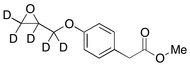4-(2-Oxiranylmethoxy)benzeneacetic Acid Methyl Ester-d<sub>5</sub>