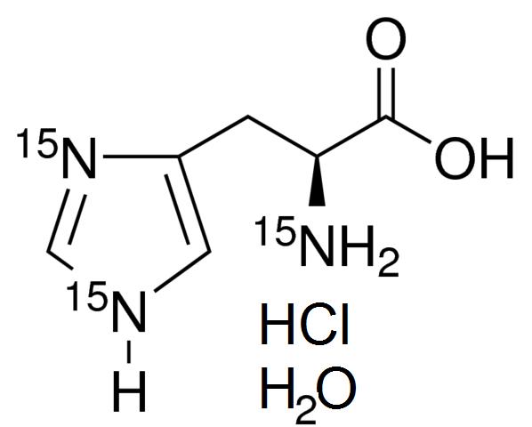 L-Histidine-<sup>15</sup>N<sub>3</sub> hydrochloride hydrate