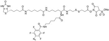2-[N<sub>2</sub>-[N<sub>6</sub>-(4-Azido-2,3,5,6-tetrafluorobenzoyl)-6 -aminocaproyl]-N<sub>6</sub>-(6-biotinamidocaproyl)-L-lysinylamido]] Ethyl 2-(N-Sulfosuccinimydylcarboxy)ethyl Disulfide Sodium Salt