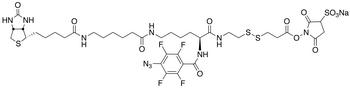 2-[N<sub>2</sub>-(4-Azido-2,3,5,6-tetrafluorobenzoyl)-N<sub>6</sub>-(6 -biotinamidocaproyl)-L-lysinyl]ethyl 2&#146;- (N-sulfosuccinimidylcarboxy)ethyl Disulfide Sodium Salt