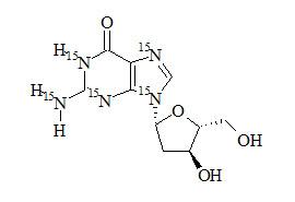 2'-Deoxyguanosine-<sup>15</sup>N<sub>5</sub>