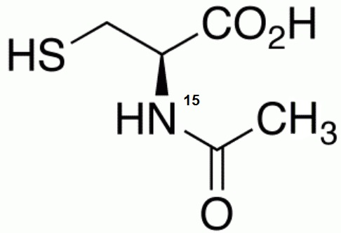 N-Acetyl-L-cysteine-<sup>15</sup>N