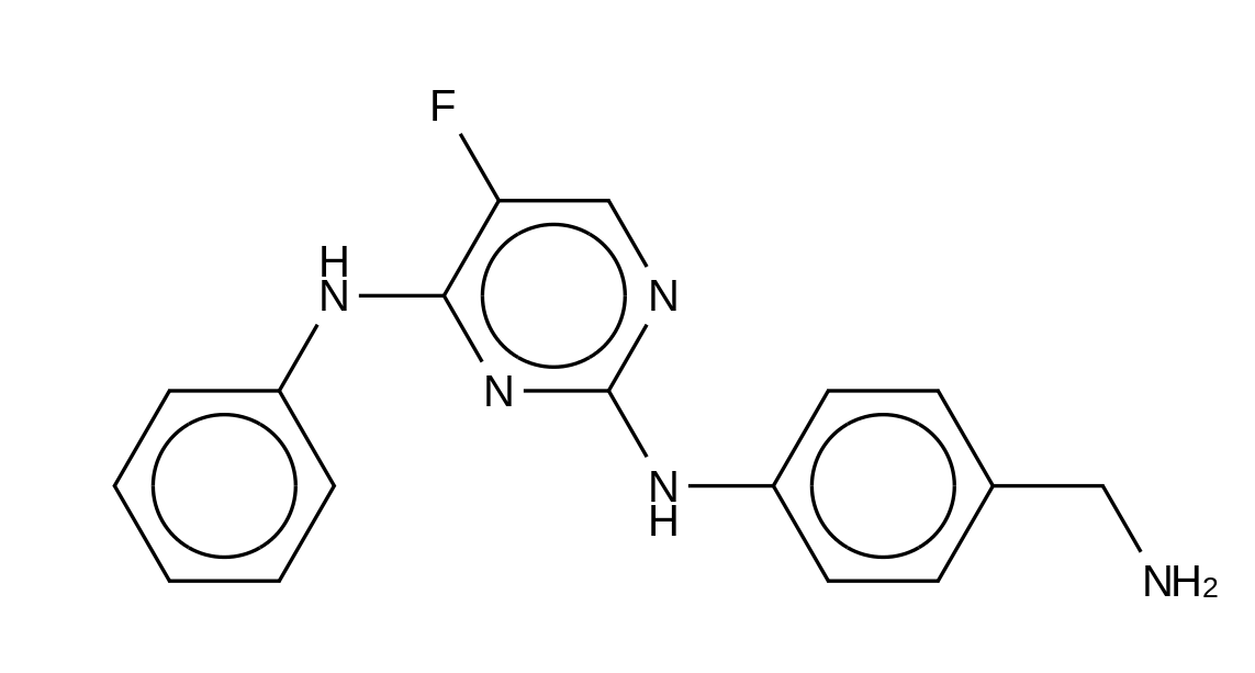 N2-[4-(Aminomethyl)phenyl]-5-fluoro-N<sub>4</sub>-phenylpyrimidine-2,4-diamine