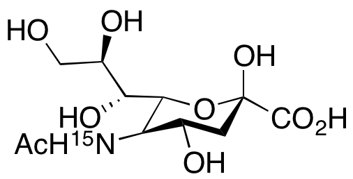 N-Acetylneuraminic acid-15N<sub>1</sub>