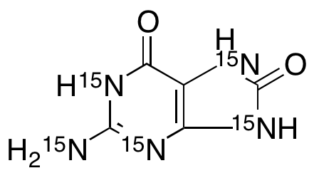 2-Amino-6,8-dihydroxypurine-15N<sub>5</sub>
