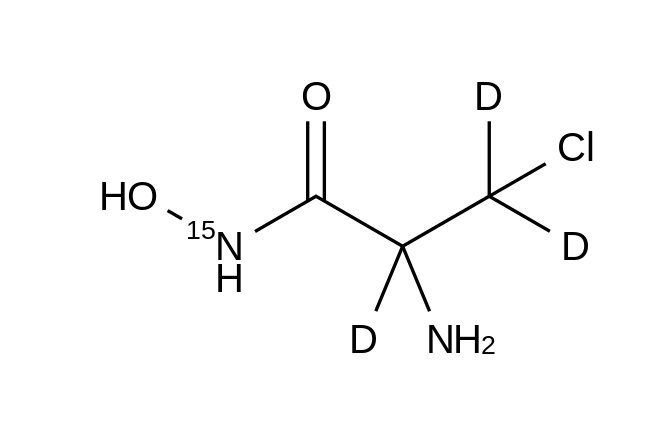 2-Amino-3-chloro-N-hydroxy-propanamide-<sup>15</sup>N,d<sub>3</sub>