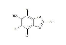 6-Hydroxy chlorzoxazone-d<sub>2</sub>,<sup>15</sup>N
